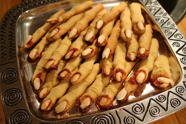 Scary finger cookies by Jill, via Flickr