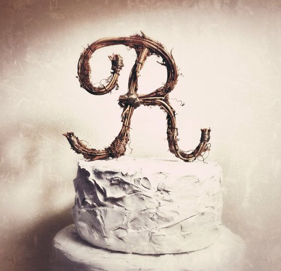 letters for wedding cake shabby chic twig letter r wedding cake topper by 5511