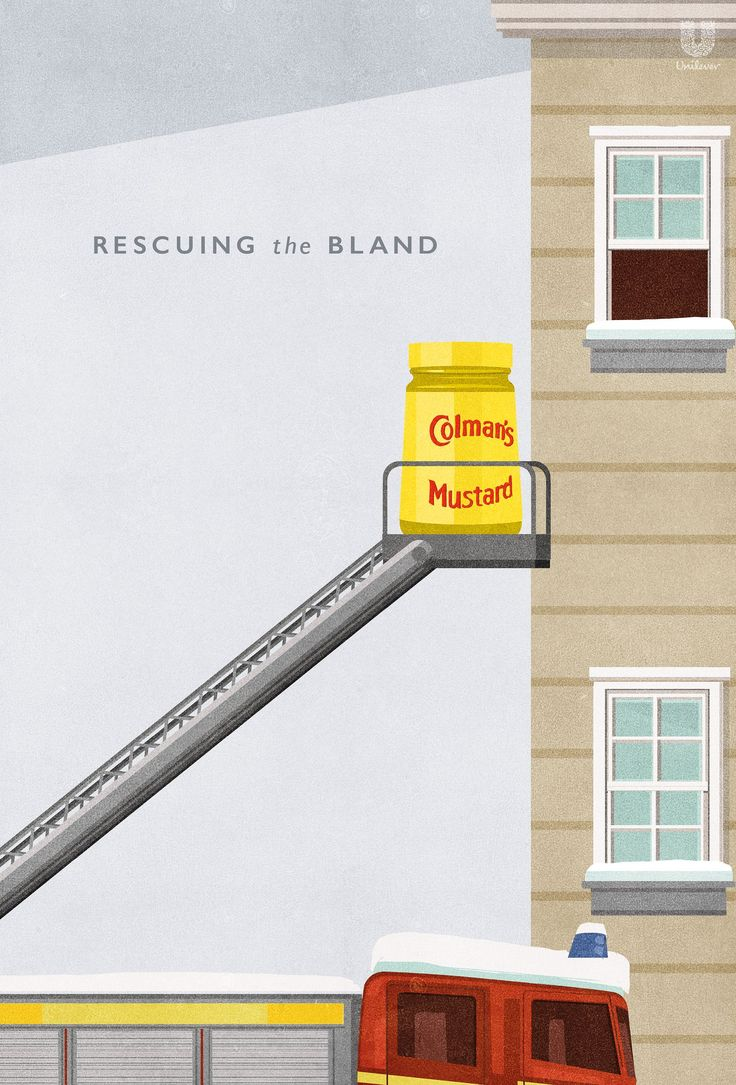 Rescuing the Bland   Colour Illustration Colman's Food Condiments Advertising Poster Campaign    Award-winning Art Direction   D&AD