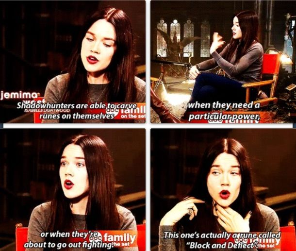 Jemima West about her character and her runes