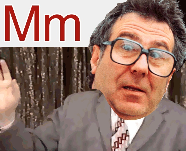 """M is for Malcolm Hardee. He was a comedian,compère,proprietor,author, agent, manager and """"amateur sensationalist"""", there was always a cunning stunt to hand. He was seen by many to be the Godfather of Alternative Comedy. Rob Newman said he was""""a hilarious, anarchic, living legend; a millennial Falstaff"""" – which edges him ahead of the Mary Whitehouse Experience for 'M'."""
