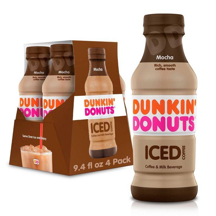 Dunkin' Donuts Mocha 4pk/9.4 fl oz Bottles (With images
