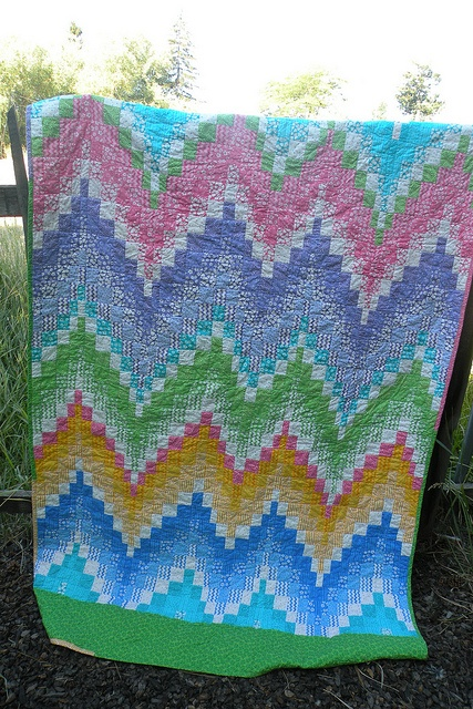 another nice bargello.  from a jelly roll