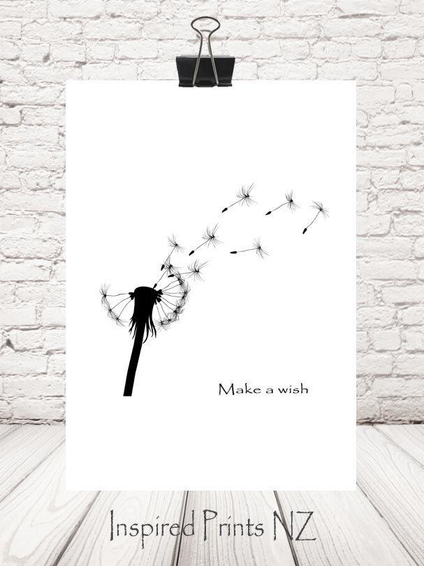 A4 Print  Make a wish by InspiredPrintsNZ on Etsy
