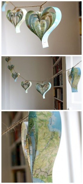 Wouldn't this be adorable in pink/mauve paper with pearls dangled from bottom of each? To look like bleeding hearts