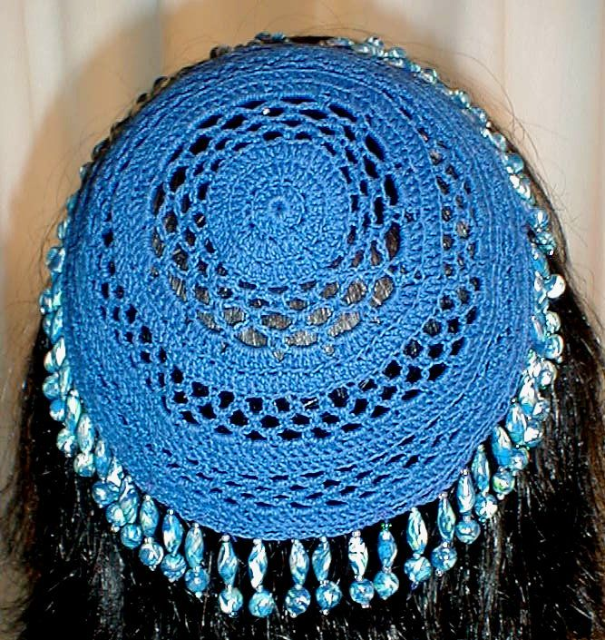 Crochet a Kippah, free crochet pattern by This and That from Katydid Kat Cr...