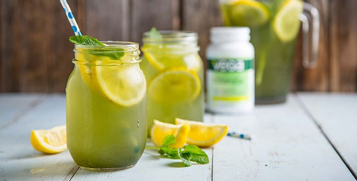 When the sun's out and you want to treat yourself to a nice cold beverage, this pick-me-up Matcha Mint Lemonade will do just the trick.