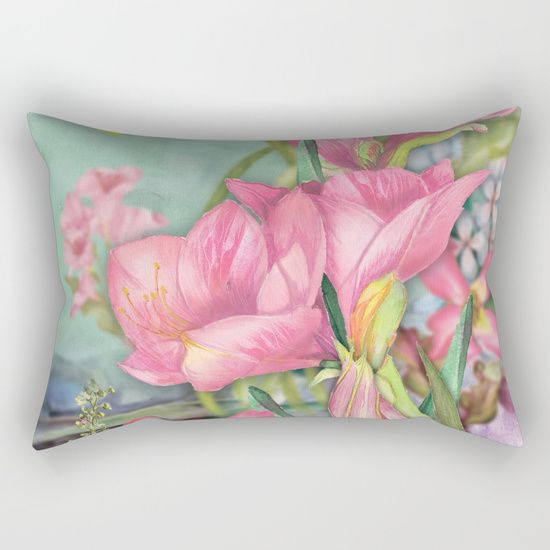 #flowers #floral #rectangularpillow #pillow Available in different #giftideas products. Check more at society6.com/julianarw