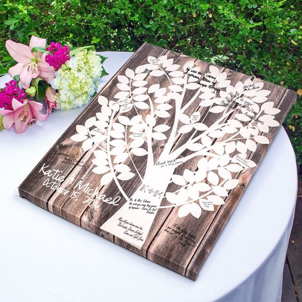 Our Family Tree Gallery Wrapped Canvas Guest Book (Cathys Concepts 2109TD) | Buy at Wedding Favors Unlimited (http://www.weddingfavorsunlimited.com/our_family_tree_gallery_wrapped_canvas_guest_book.html).