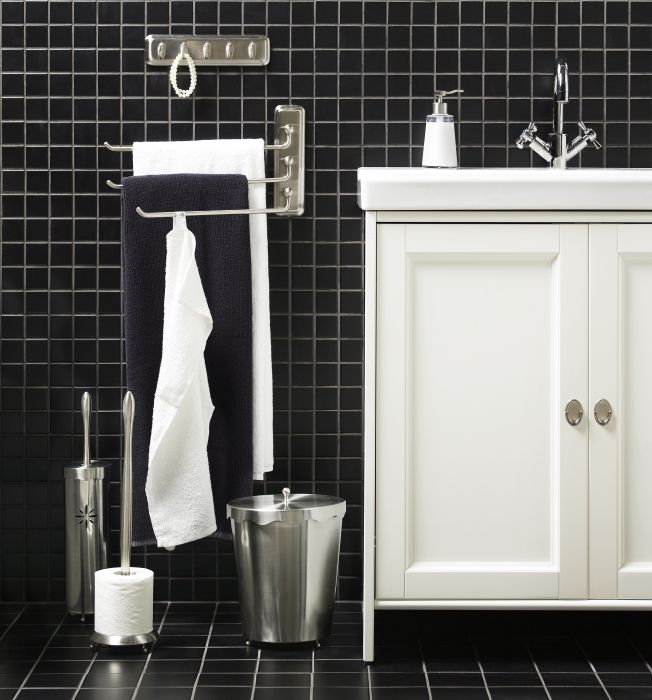 Take Care Of Everything From Soap To Towels To Toothbrushes With The  LILLHOLMEN Accessory Series. Like The Standing Towel Rack If Itu0027d Fit.