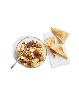 Couscous Salad With Grapes and Feta: Tasty Recipe, Pita Chipsyum, Couscous Salad, Easy Recipe, Servings, Grape, Made, Food Recipe, Pita Chips Yum