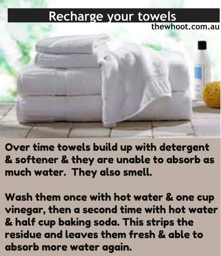 Refresh towels - imma try this with my bathrobe!