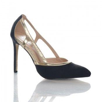Pantofi Tosca - Negru Acesti pantofi casual de vara au un design inedit, care permite picioarelor sa respire in voie. Pantofii Tosca au un toc subtire de 10 cm, care va evidentiaza silueta. Acesti pantofi se pot asorta cu usurinta la stilurile vestimentare casual, office sau elegant.