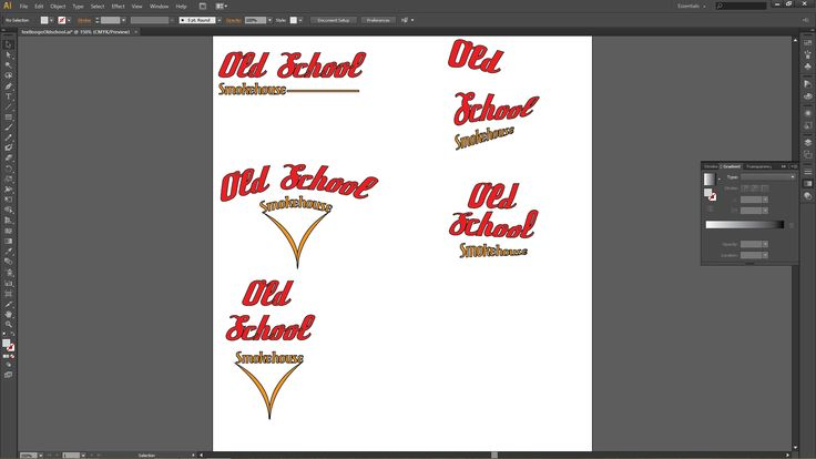 screenshot of many types of logos i came up with.