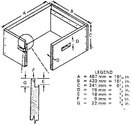 84 bee box dimensions plans and dimensions for for Beehive plans blueprints