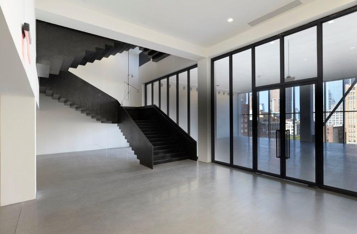 Special stairs black carbon - 50 Varick a Manhattan- New York: #design By #Interbau Style & Design