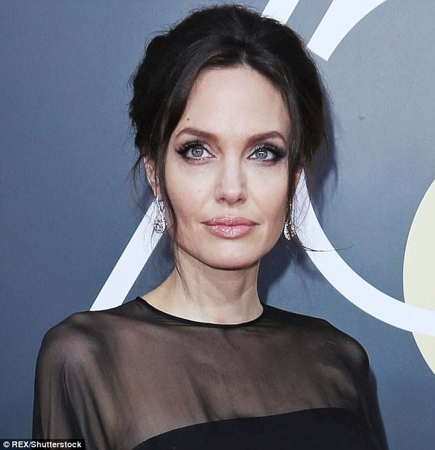 Angelina Jolie Arrives With Son Pax To Golden Globes Alabaster