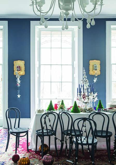 Walls in Stiffkey Blue by Farrow & Ball