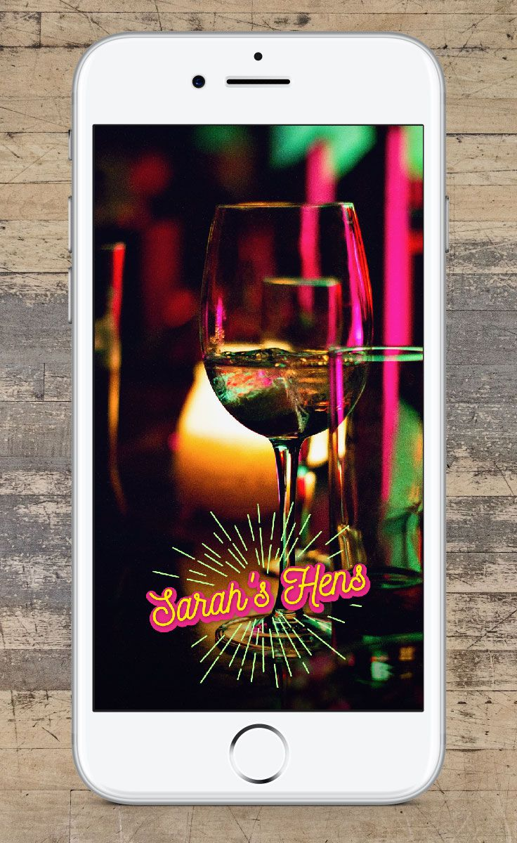 Planning a Bachelorette party? Get a custom designed Snapchat Geofilter! We create beautiful designs based on your unique needs! #bride #bachelorette #bacheloretteparty #wedding #geofilter #snapchat #snapchatfilter