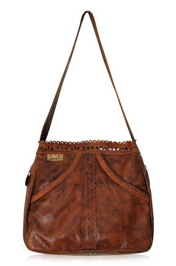 L'AMOUR. Brown leather tote / brown leather purse / by BaliELF, $180.00