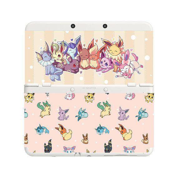 Personnalisé imprimé Pokemon Evoli Eeveelutions nouvelle Nintendo 3DS façade paire plaques de recouvrement