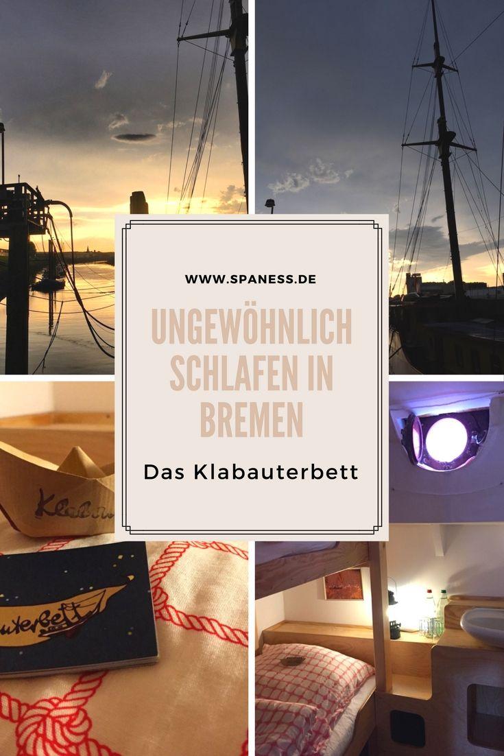 Ungewöhnlich übernachten - schlafen auf einem Schiff in Bremen - Schiffshotel.