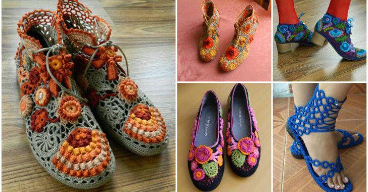 Örgü Ayakkabı Modelleri – 42 Adet Yazlık Örgü Ayakkabı Modelleri