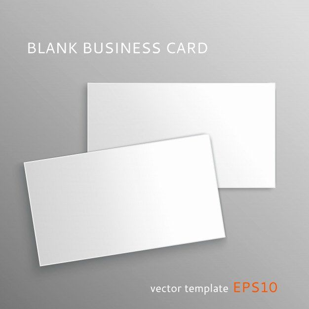 Blank Business Card Template Free Best Of Blank Business Card Template Vec In 2020 Business Card Templates Download Free Business Card Templates Business Card Template