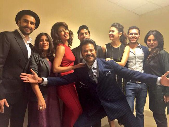 'Dil Dhadakne Do' family comes together during Delhi screening.