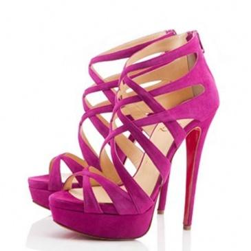 Christian Louboutin hot pink heels