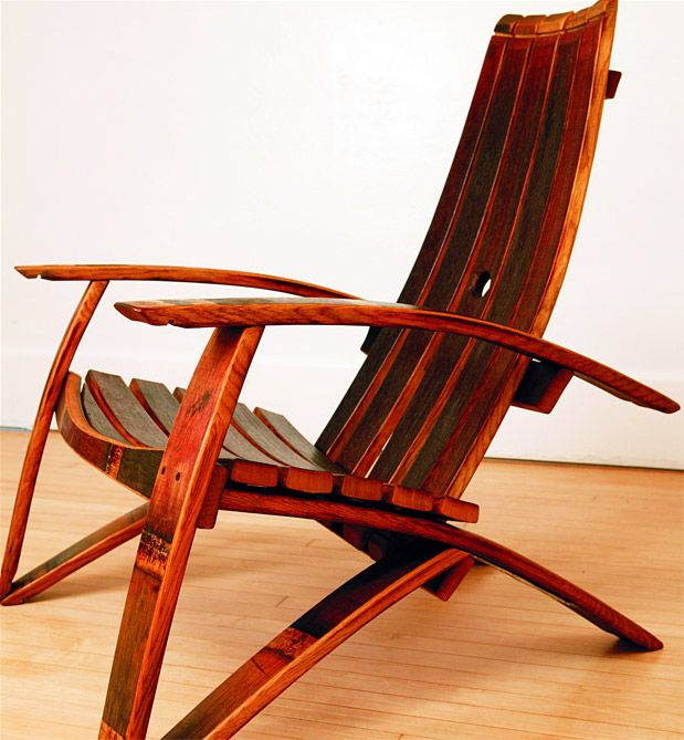 31 best images about wine barrel creations on pinterest for Wine barrel chair diy