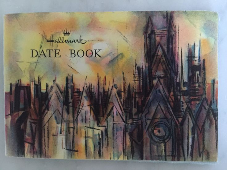 Vintage 1961 Hallmark Date Book Pocket Calendar Purse Calendar Nice Condition Lamar Dodd Painting on Cover entitled Of England Collectible by Samanthasunshineshop on Etsy