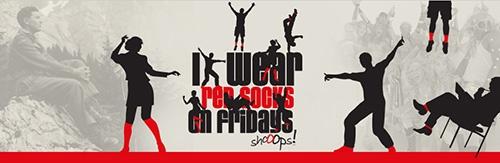 I wear red socks on Fridays