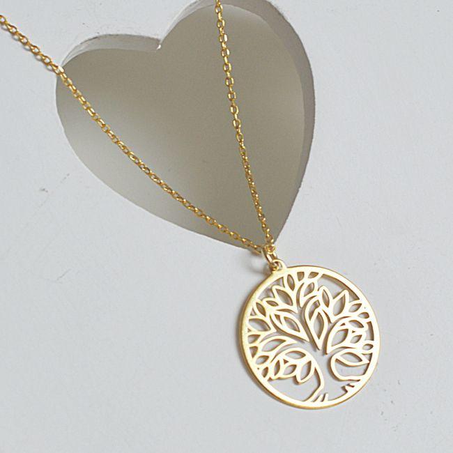 Naszyjnik złoty z drzewem życia. Cena:129zł. Kup na: https://laoni.pl/naszyjnik-drzewo-zycia-zloty #celebrytka #biżuterianaślub #złoty #naszyjnik #celebrytka