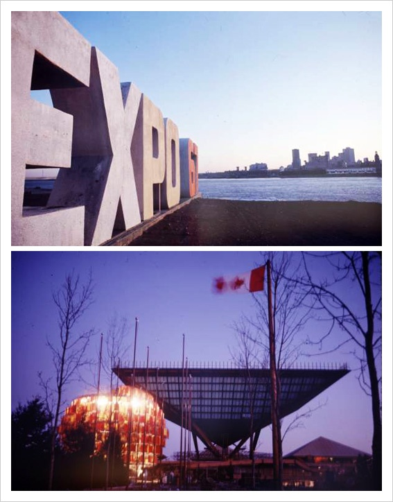 "Expo 67 / Photographer: Michael Rougier. Canada Pavilion, also known as ""Katimavik"" (lower image)."