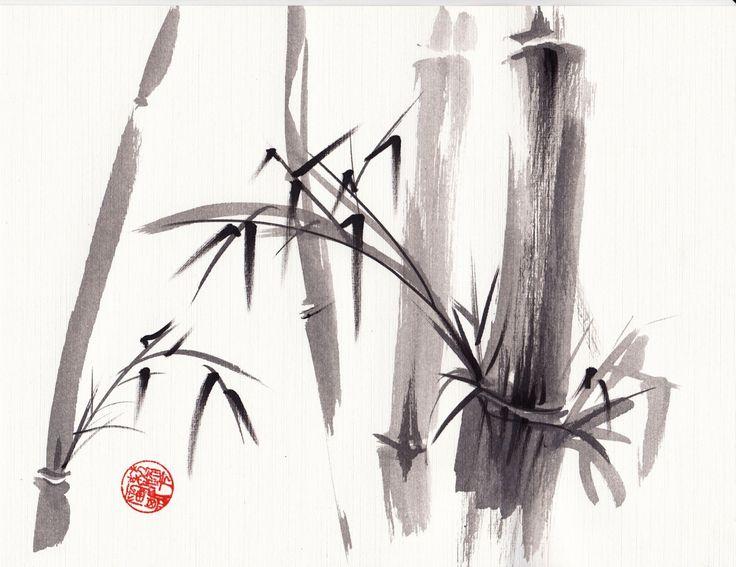 AuBergewohnlich Google Image Result For Http://img0.etsystatic.com/000/. BambuszeichnungJapanischer  BambusJapanische MalereiChinesische ...