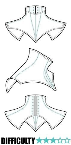 Neck corset pattern Kinda wanna use something like this for Mara, to add that extra texture to the suit.