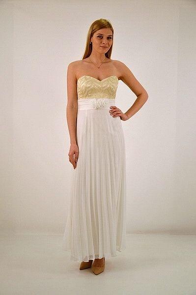 Φόρεμα μακρύ, με ράντες, αμπίρ κόψιμο