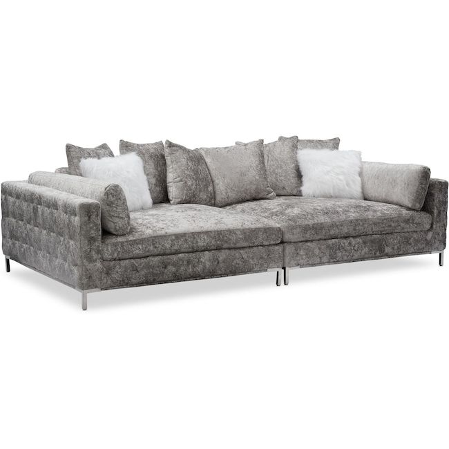 Milan 2 Piece Sofa Cheap Living Room Furniture Value City Furniture American Signature Furniture
