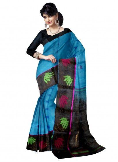 Blue Kuppadam Pattu Saree with Blouse Product code: SLSA90S006 Retail price: 8,225/- Sale price : 7,833/-