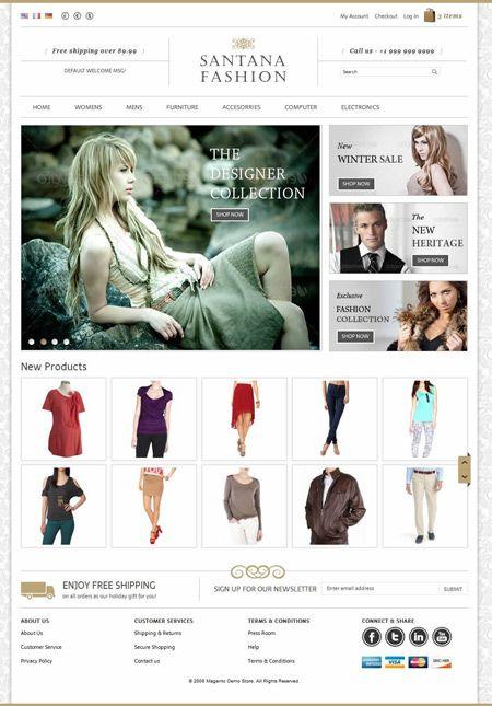 Santana #Fashion Store is a Magento #eCommerce Theme