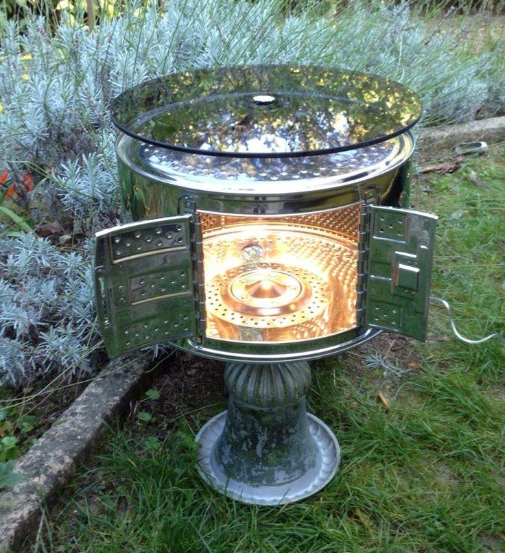 Tablette lumineuse cr e partir d 39 un tambour de machine for Nettoyage tambour machine a laver