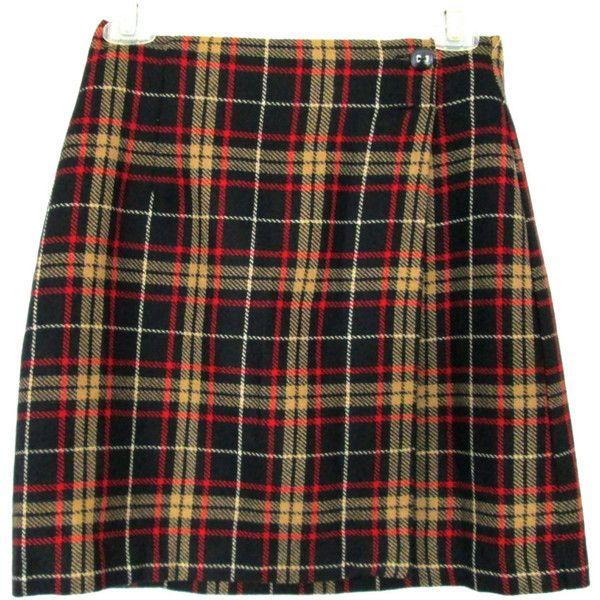 90's High Rise Plaid mini skirt size S/M ($18) ❤ liked on Polyvore featuring skirts, mini skirts, bottoms, faldas, jupes, black skirt, mini skirt, high waisted mini skirt, wrap skirt and high-waisted skirts