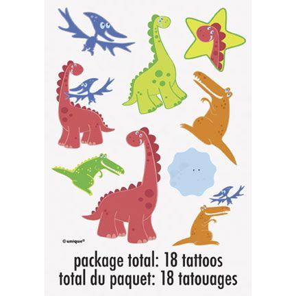Dino Party Temp Tattoos!