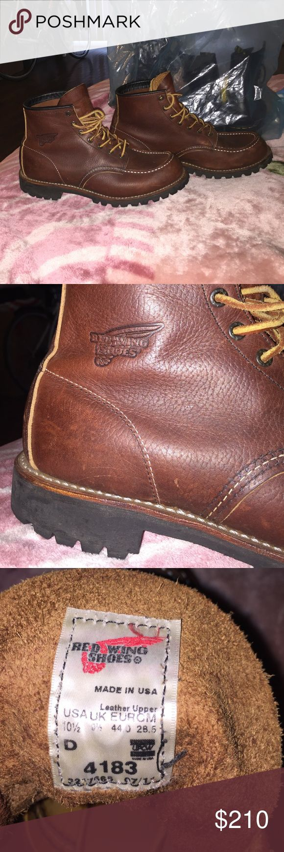 Red Wing Boots Size 10.5 Red Wing Boots Size 10.5. Brown. Like new. Very good condition. Retail Price: $350. Red Wing Shoes Shoes Boots