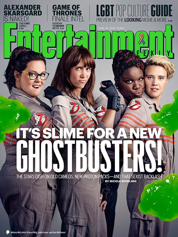 The new 'Ghostbusters' film talk special cameos and that sexist backlash. Photo Credit: Justin Stephens for EW
