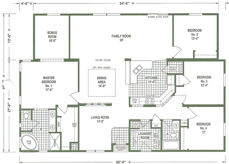 Triple Wide Mobile Home Floor Plans | We offer a complete service to our customers. Financing, Extended ...