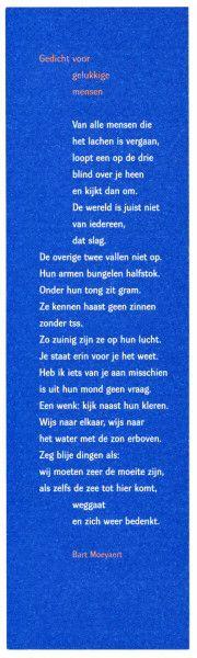 Bart Moeyaert - Gedicht voor gelukkige mensen
