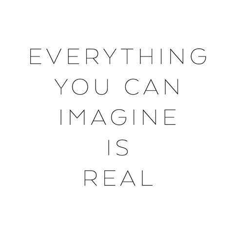 Everything you can imagine is real ♡ • #mapsandletters_motto