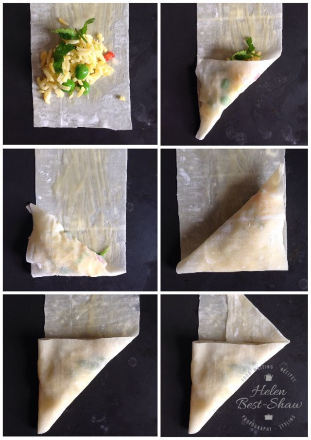 Baked samosas are delicious and very easy to make. Here is how to fold them